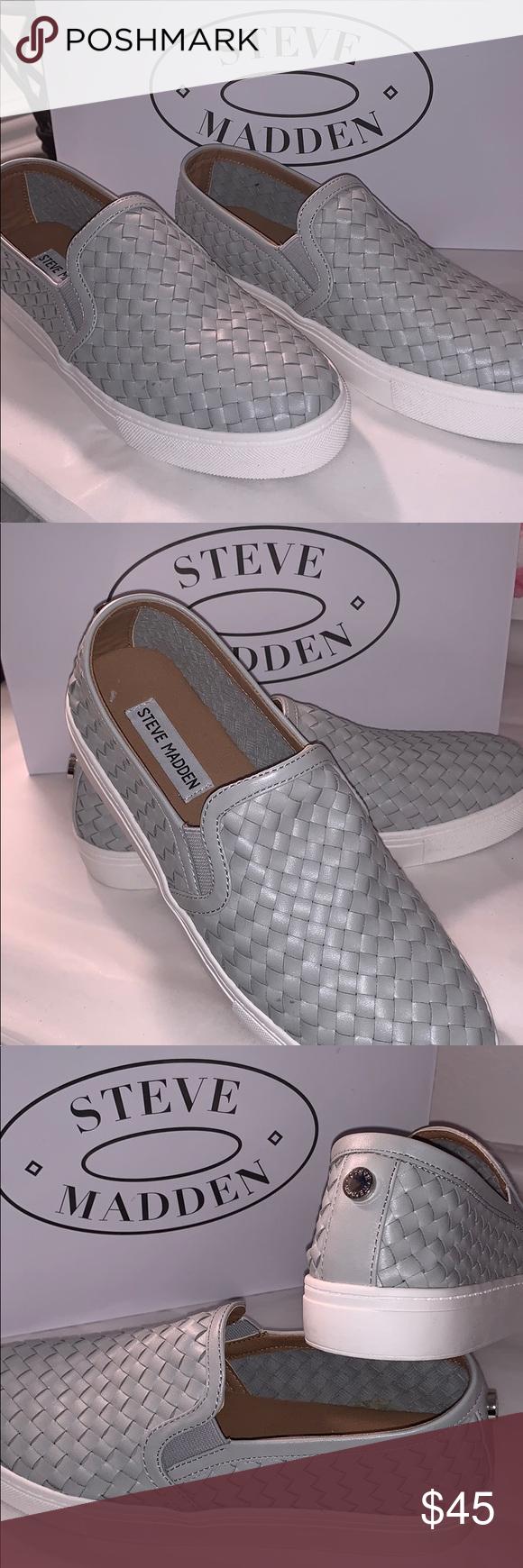 NWB. Steve Madden willow grey slip on's