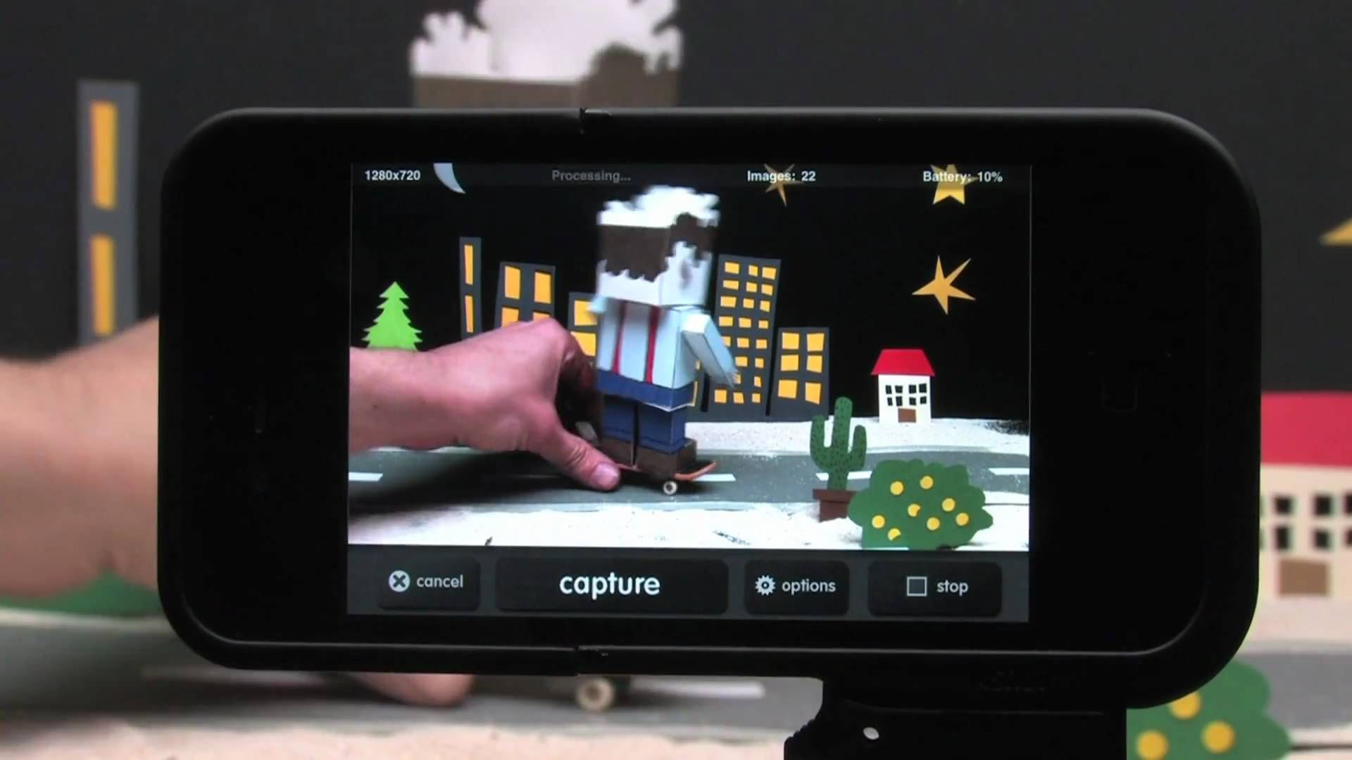iMotion is a free iPad/iPhone app for making stop motion