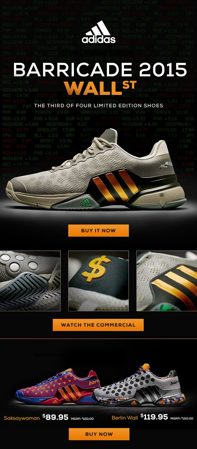 save off 095ed eba59 adidas Barricade Wall St. Limited Edition - It's Now or ...
