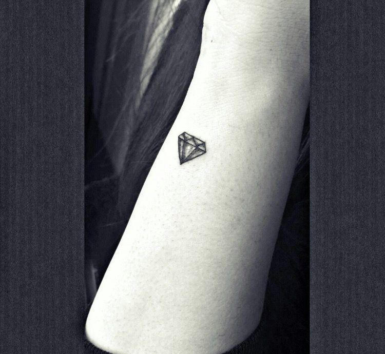 small diamond tattoo on side wrist | tattoos❤ | pinterest
