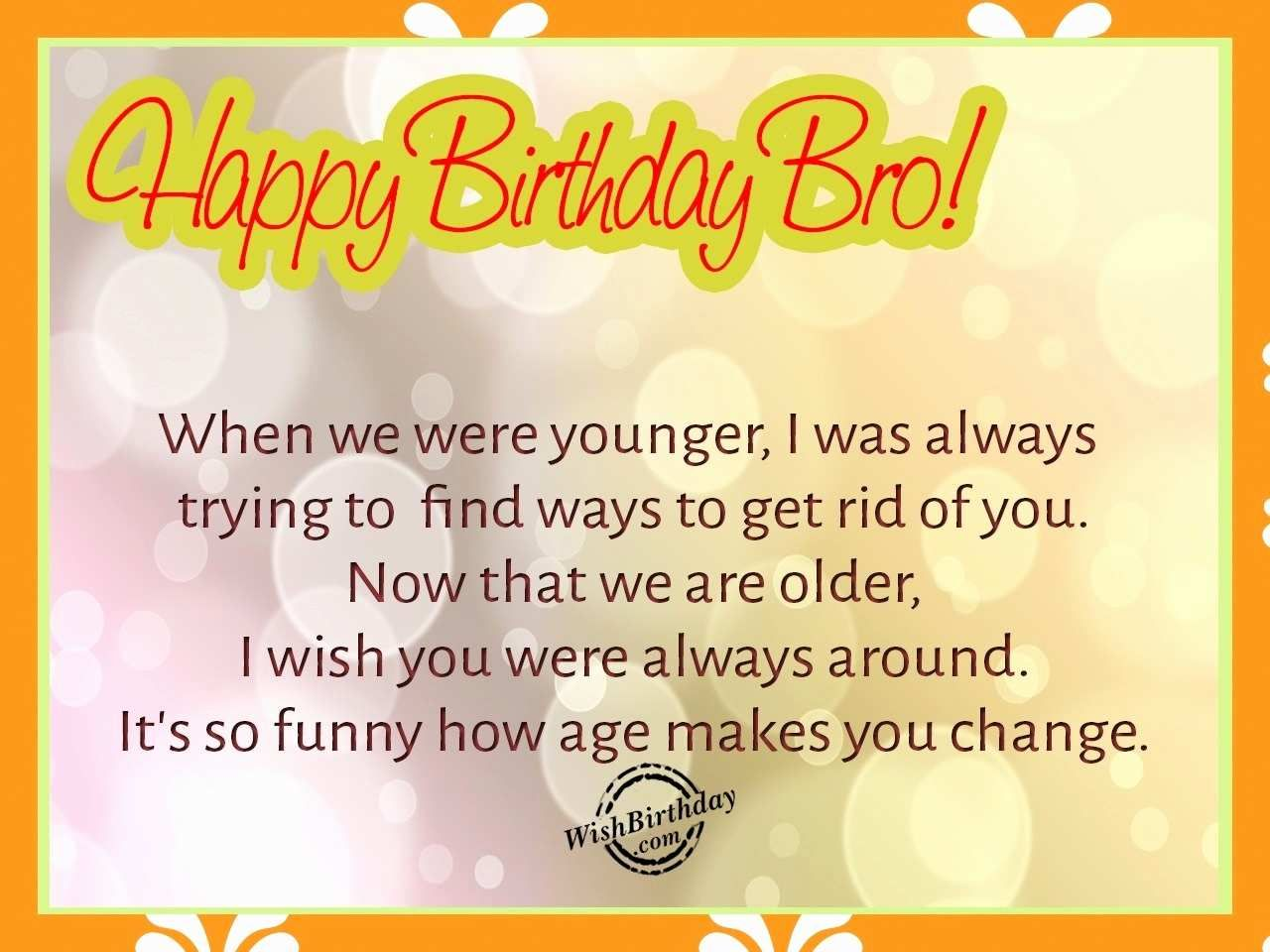 Funny Birthday Wishes For Brother Inspirational Outstanding Happy Birthday Wishes For Brother Brother Birthday Quotes Wishes For Brother