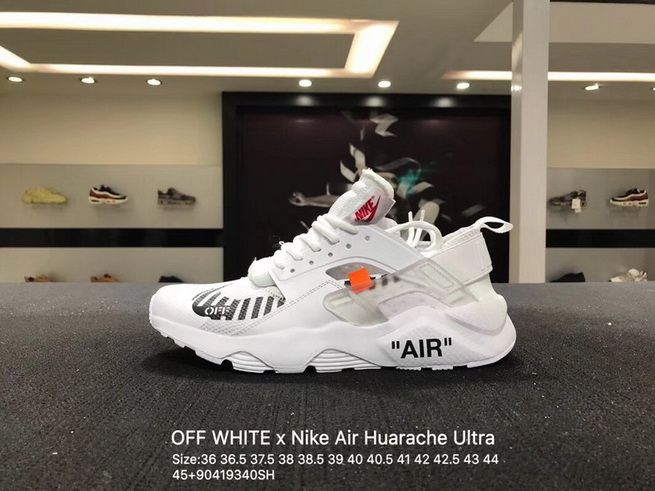 88476f83e595a2 Genuine Off White x Nike Air Huarache Ultra White Black Orange AA3841-100  On Line