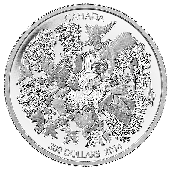 $200 for $200 2 oz. Fine Silver Coin - Towering Forests (2014)