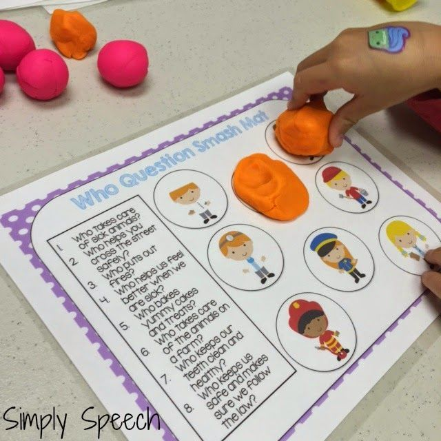 Wh Question Playdoh Smash Mats Giveaway Simply Speech This Or That Questions Wh Questions Preschool Speech Therapy