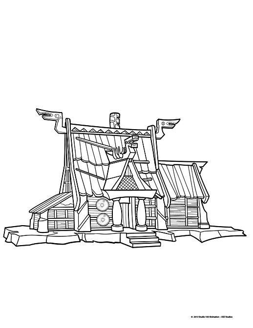 Pour imprimer ce coloriage gratuit «coloriage-vic-le-viking-6 - dessin de maison a imprimer