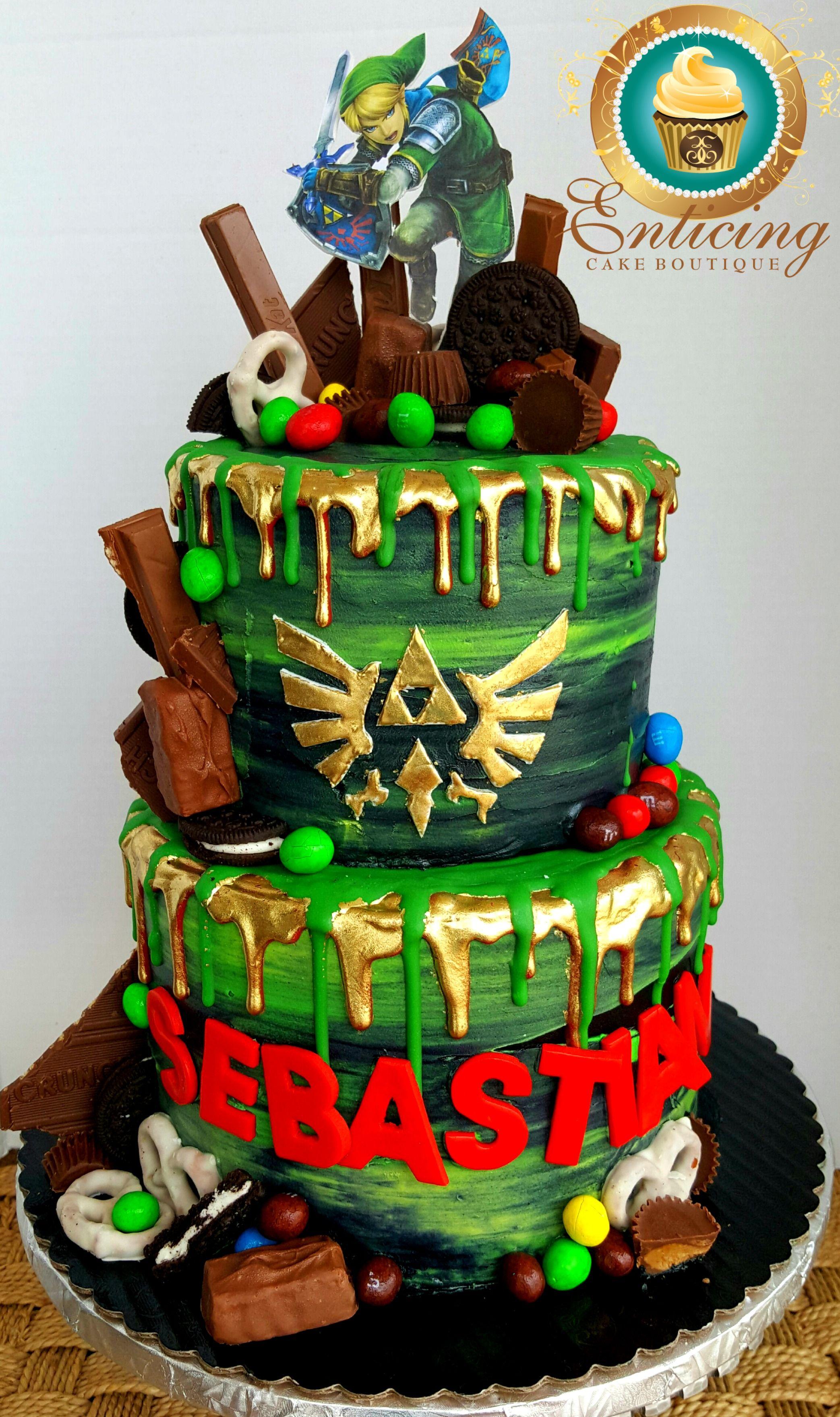 Superb Legends Of Zelda Drip Cake Cake Chocolate Drip Cake Funny Birthday Cards Online Elaedamsfinfo