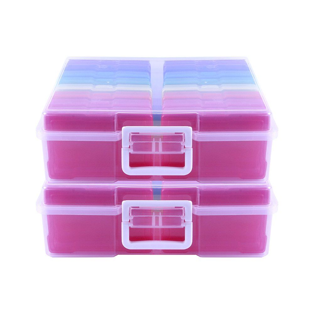 Clear 16 Inner Photo Keeper Photo Organizer Cases Photos Storage Containers Box for Photos Novelinks Photo Case 4 x 6 Photo Box Storage