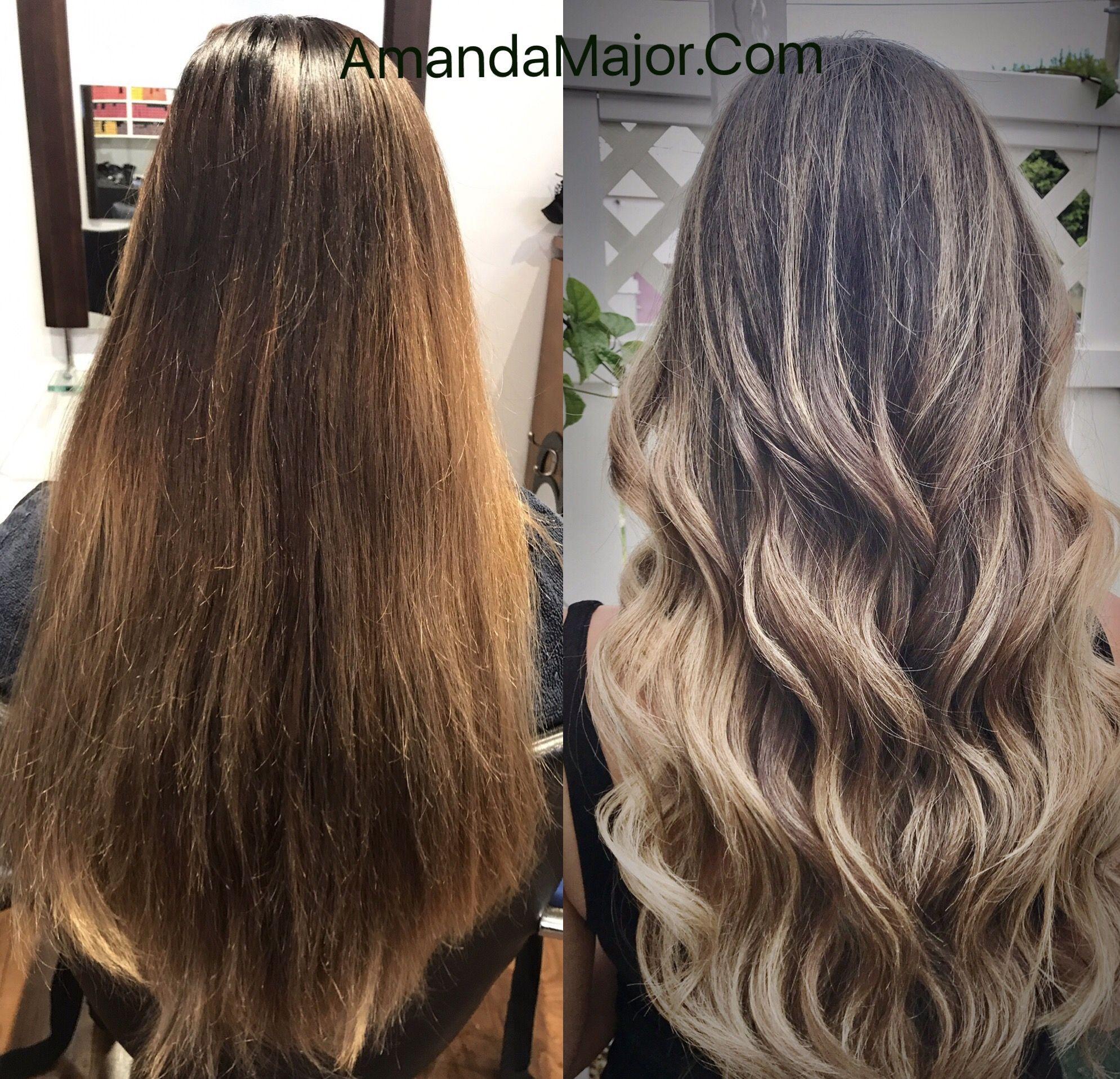 Balayage Highlights On Asian Hair Amandamajor Delray Boca