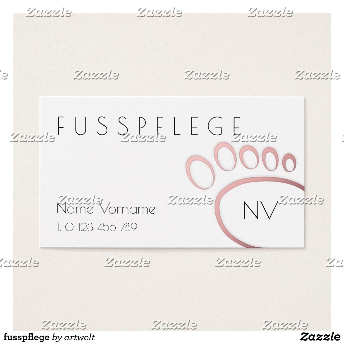 Fusspflege Visitenkarte Zazzle De Visitenkarten Karten