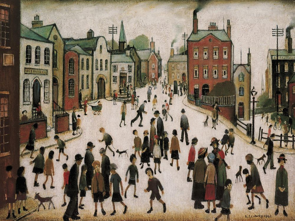 L.S Lowry The Cripples Giclee Art Paper Print Paintings Poster Reproduction