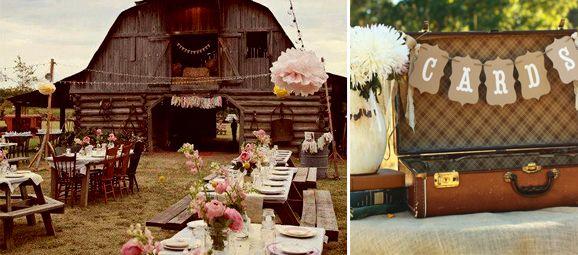 Decoraci n para una boda campestre decorations pinterest - Ideas para bodas espectaculares ...