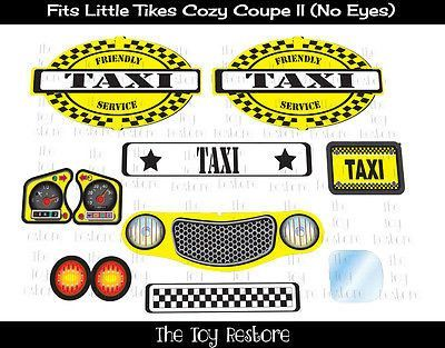 New Replacement Decals Stickers fits Little Tikes Cozy Coupe
