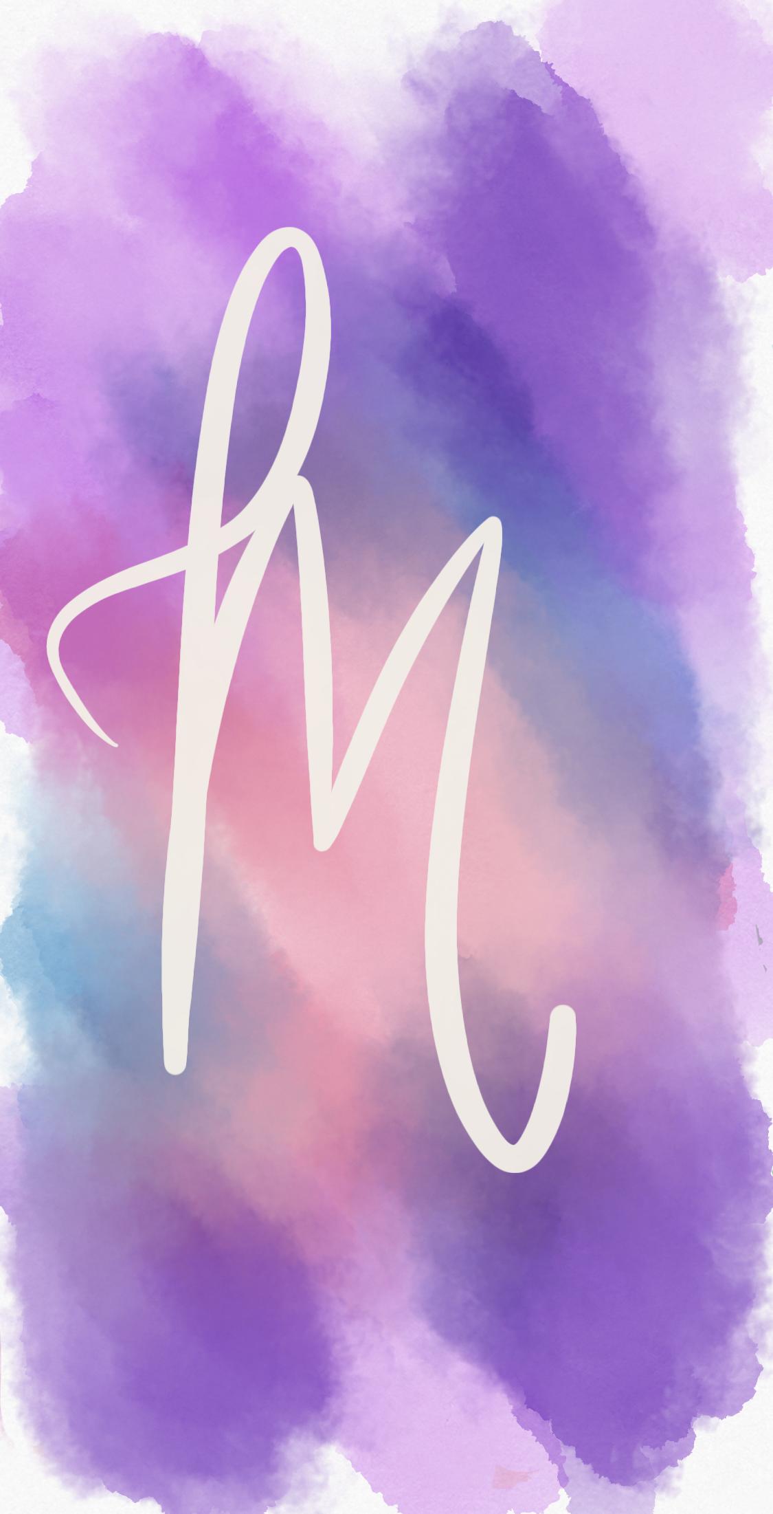 Monogram M Wallpaper Monogram Wallpaper Purple Wallpaper Iphone M Wallpaper