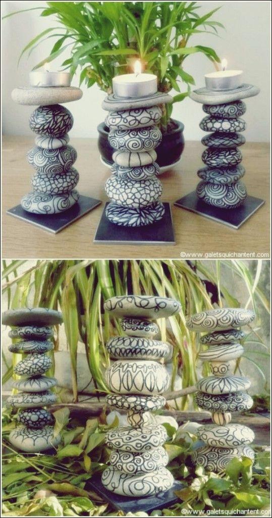 Cooles Kunsthandwerk aus Steinen, Kieselsteinen und Steinen #bastelnmitsteinen