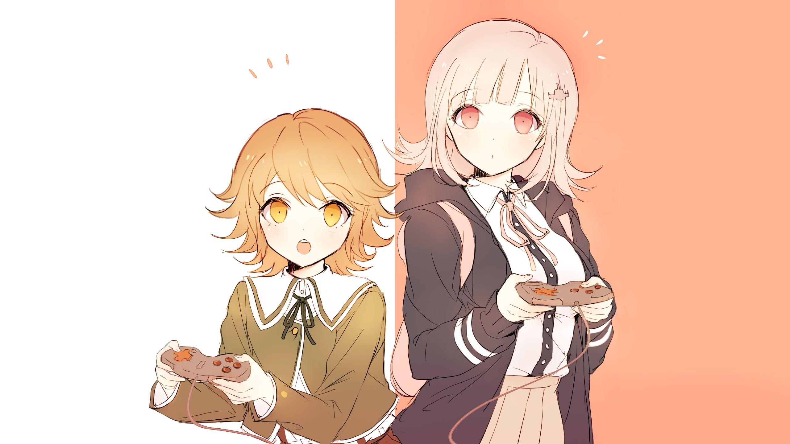 Danganronpa Chiaki Nanami Chihiro Fujisaki 2k Wallpaper Hdwallpaper Desktop Danganronpa Blonde Anime Characters Nanami