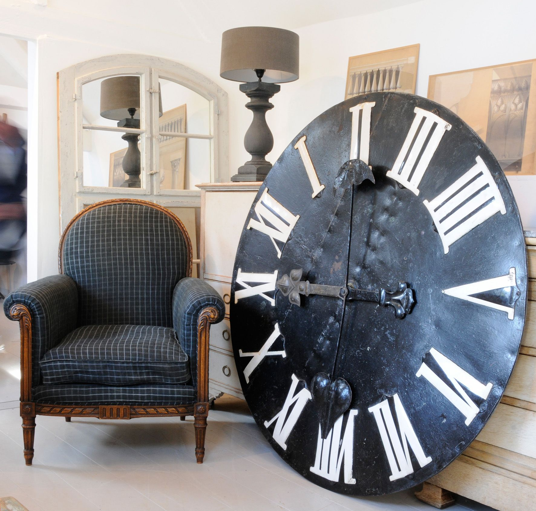Original Clock Face And French Chair Tic Toc Clocks Pinterest  # Muebles Tic Toc