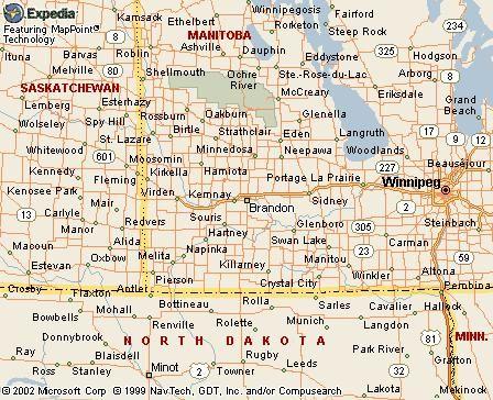 Map Brandon Manitoba Canada Canku Ota   January 25, 2003   Wheat Kings, City to Honor Toots