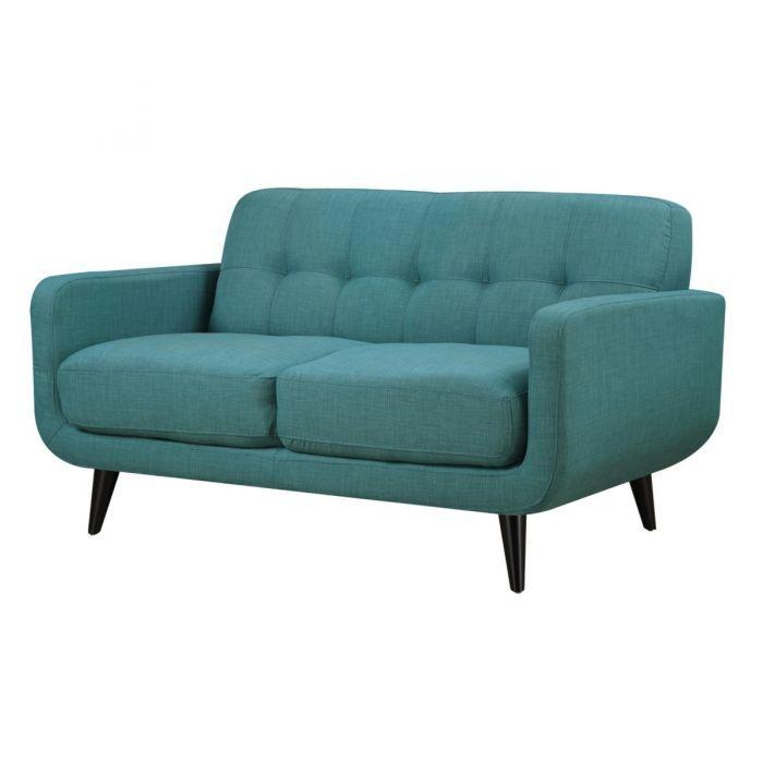 Strange Hadley Aqua Blue Mid Century Modern Loveseat Home Office Cjindustries Chair Design For Home Cjindustriesco