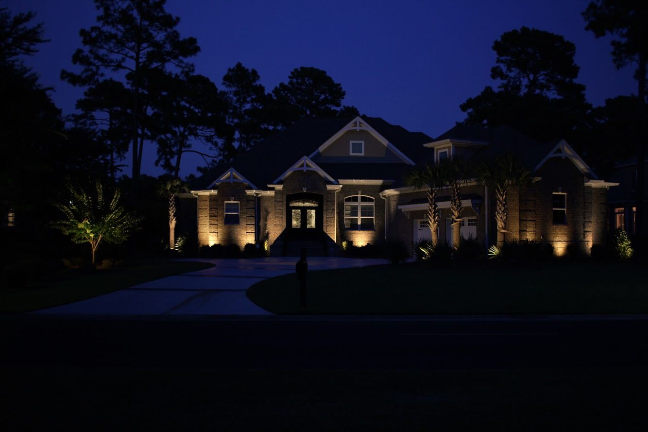 Prestige Outdoor Lighting Can Illuminate Your Home For Enhanced Security And Beauty Holiday Lights Outdoor Outdoor Lighting Landscape Lighting