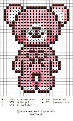 Cross Stitch Patterns for using with binca canvas or plastic canvas. Simple enough for older children to follow.