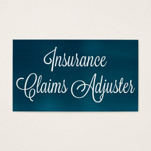 Insurance Claims Adjuster Brushed Business Card Printing