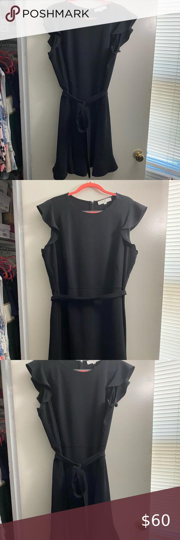 Nwt Loft Black Flutter Sleeve Dress Size 18 Flutter Sleeve Dress Dresses With Sleeves Clothes Design [ 1740 x 580 Pixel ]