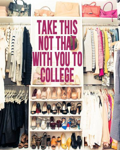 My Wardrobe Staples (Cupcakes and Cashmere) | College closet