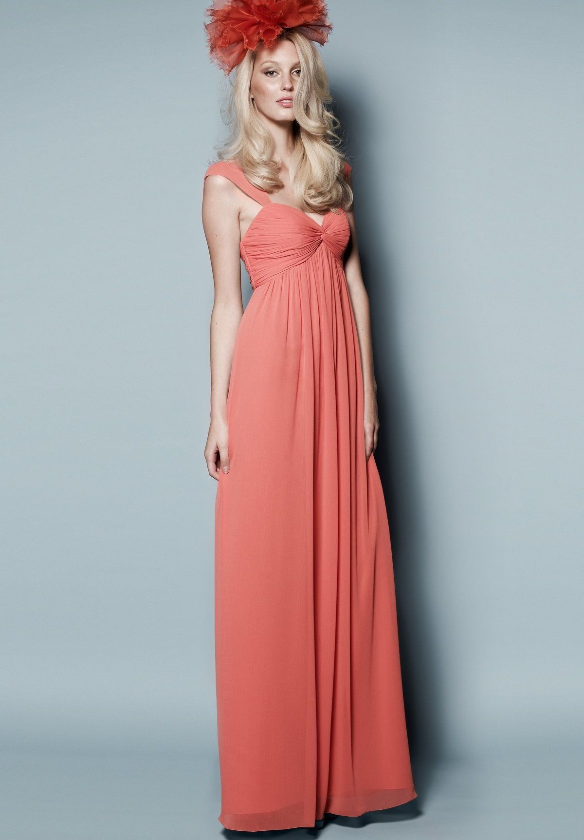Chiffon Sweetheart Empire Long Bridesmaid Dress | Dresses for Lars ...