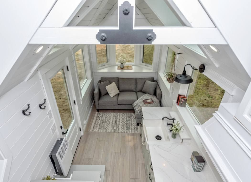 Loft over bedroom   Likes  Comments  Tiny Living tnylvng on Instagram uc
