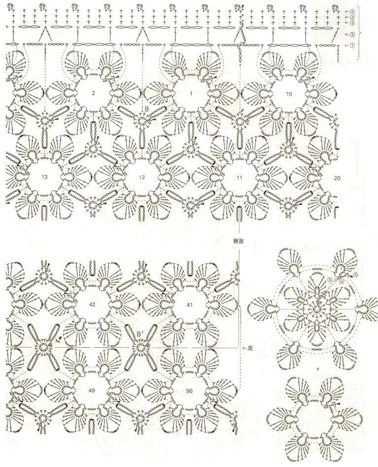 Bolso de flores con petalos dobles en relieve - Patrones Crochet ...