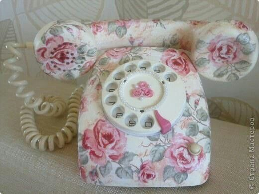 a cabbage rose telephone