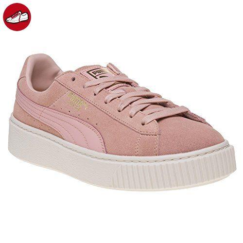 puma basket platform damen pink