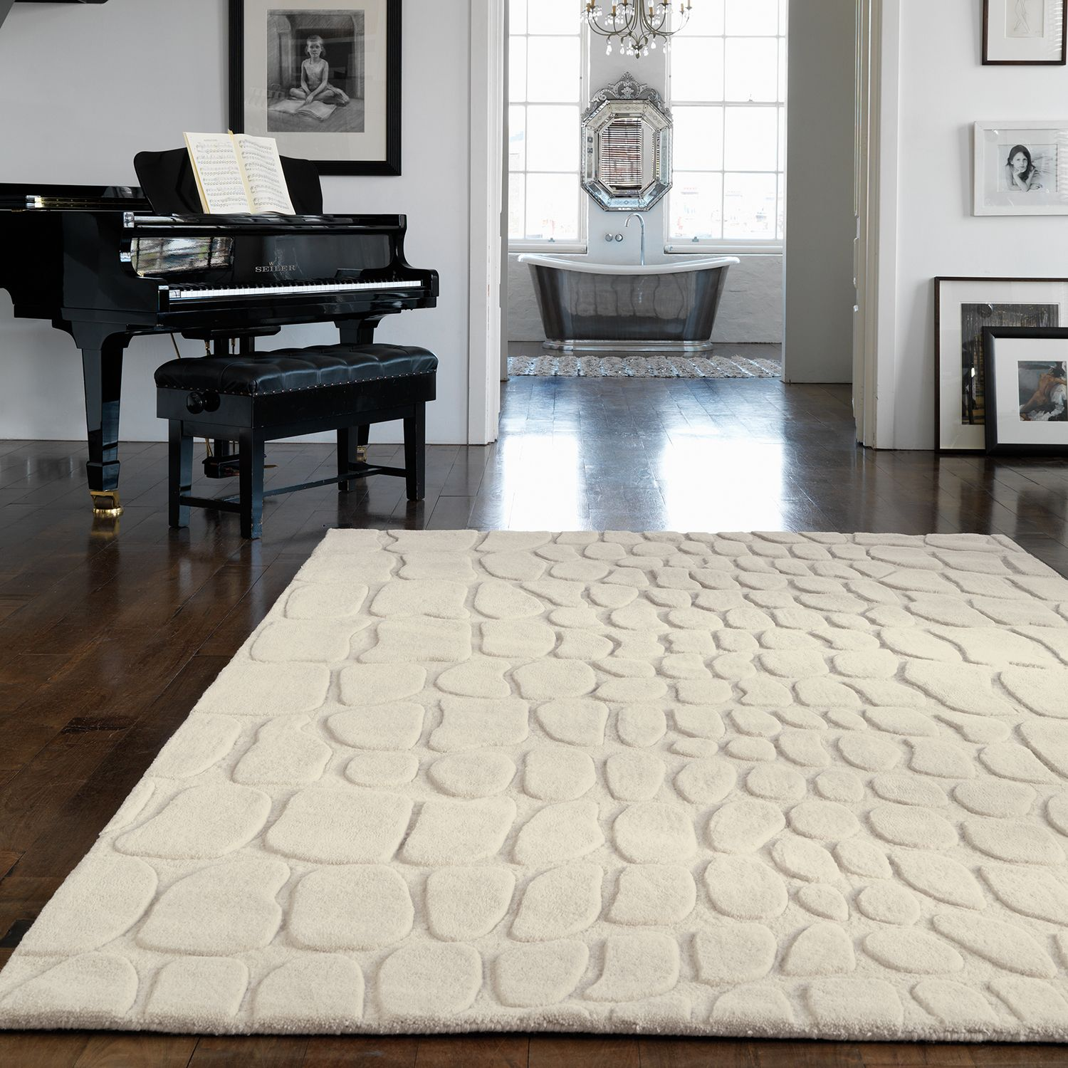 Asiatic Croc Rug In Cream Next Day Delivery