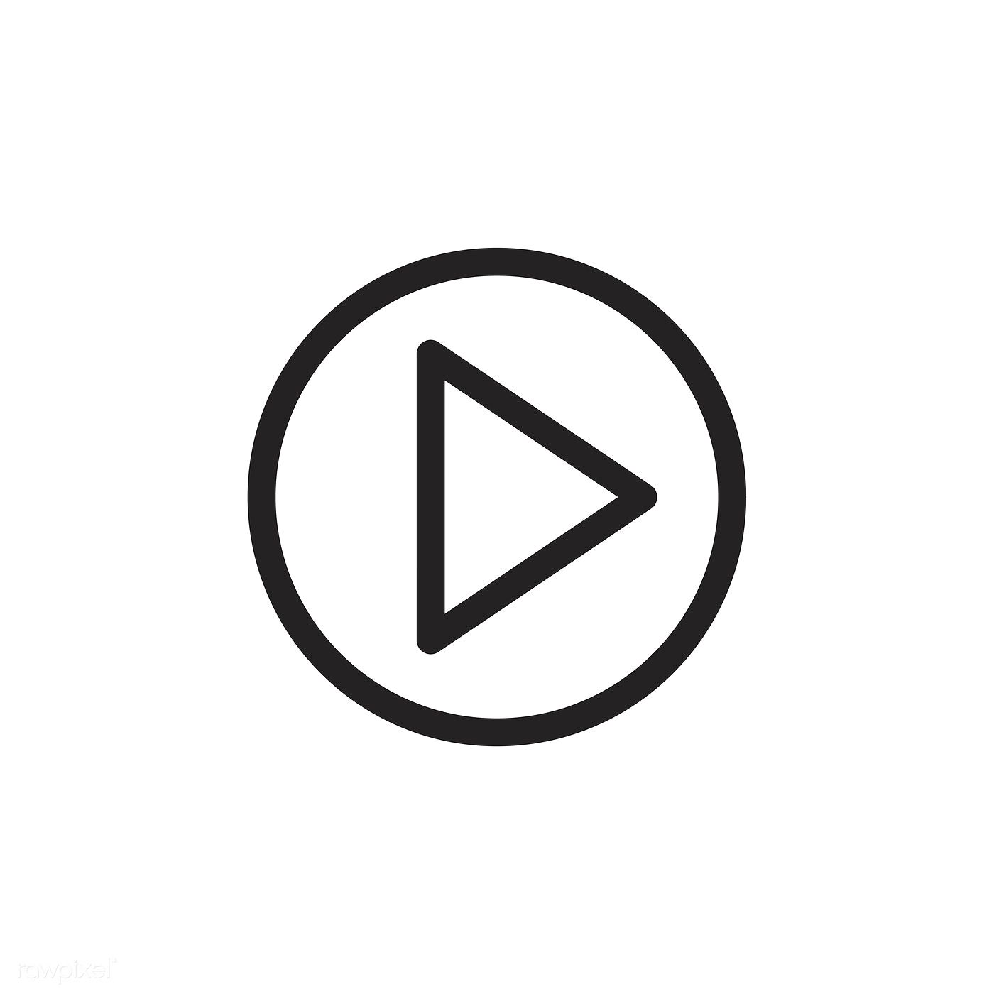 Download Premium Vector Of Play Button Icon Vector 533366 Play Button Icon Widget Icon