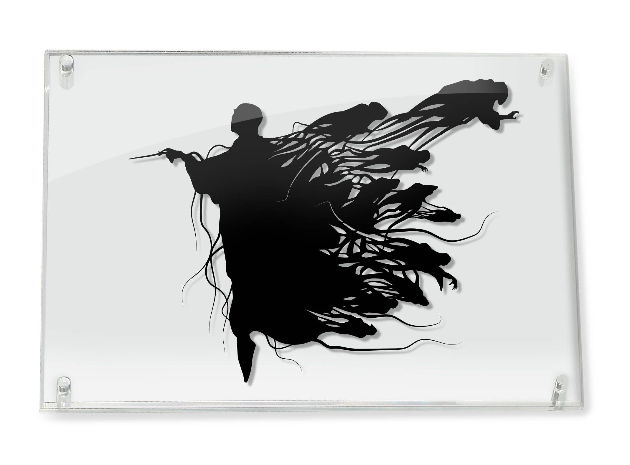 Voldemort and Dementors Harry Potter silhouette handcut ...