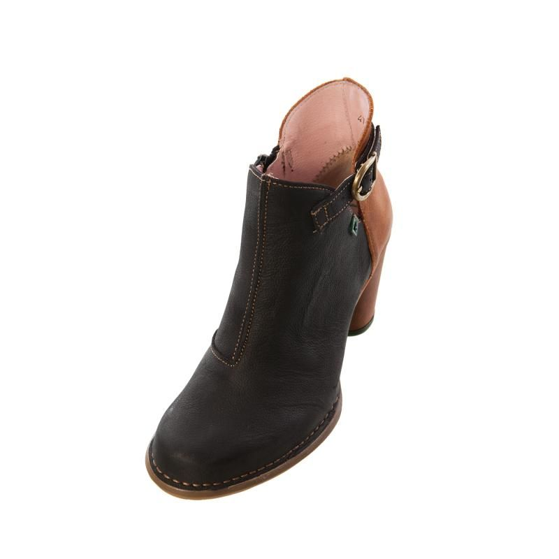El Naturalista N472 Womens Ladies Black and Brown Leather High ...