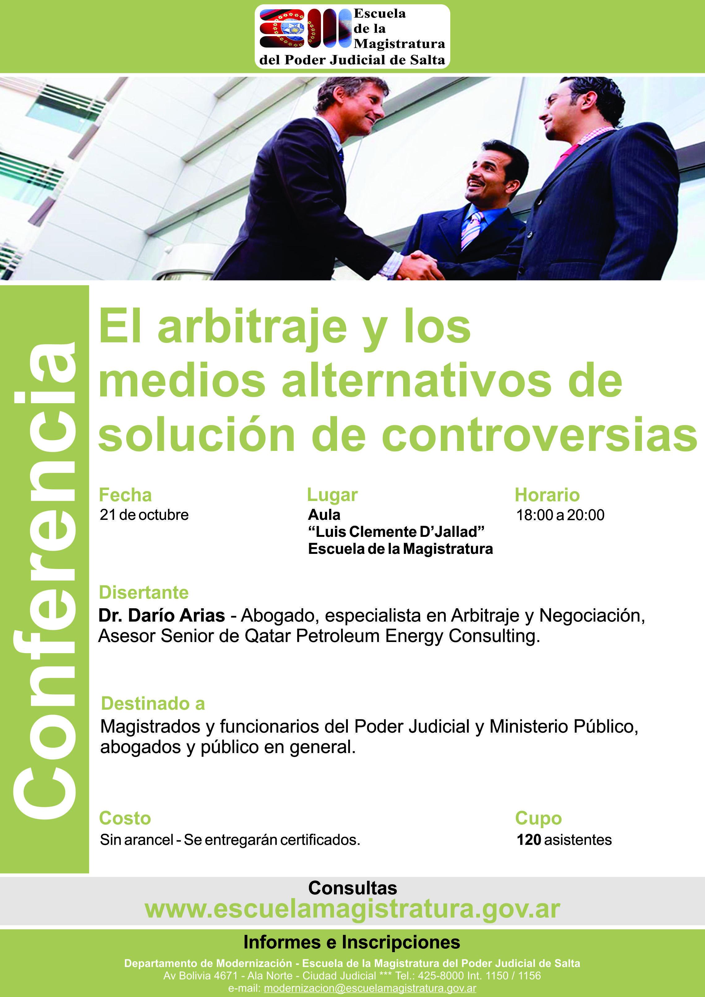 El Arbitraje y los medios alternativos de resolución de conflictos