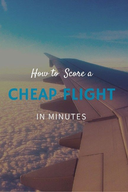 How To Score a Cheap Flight in Minutes | Travel Tips ...