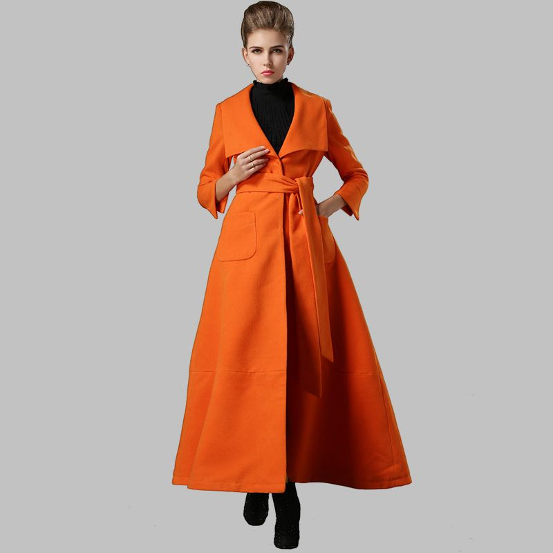 Winter New 2015 Europe Formal OL Female Wool Blends Coat Overcoat ...