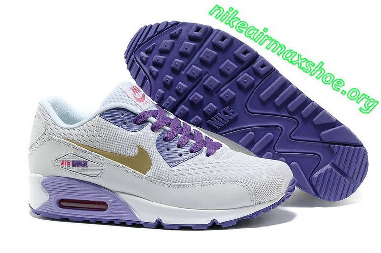 New White GoldPurpleBlue Nike Air Max 90 Premium EM Womens Trainers For  Wholesale
