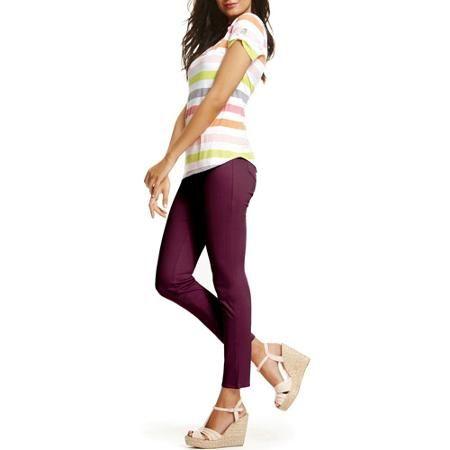 87653c8142e44 Faded Glory Women's Full Length Knit Color Jegging - Walmart.com Burgandy  Brick