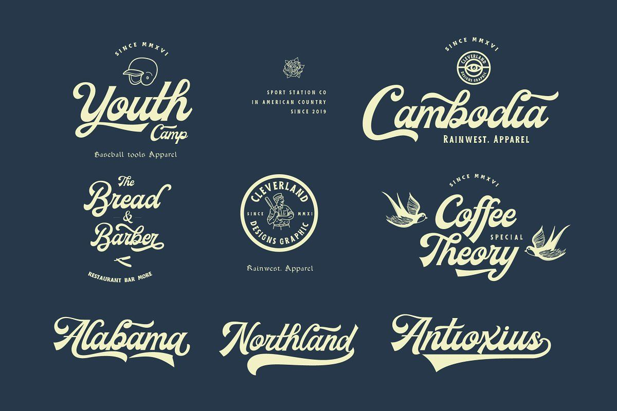 Milestone Script Script Painted Signs Typeface