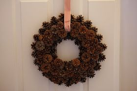 Enjoy All Life Has to Offer!: DIY: How to Create a Pinecone Wreath