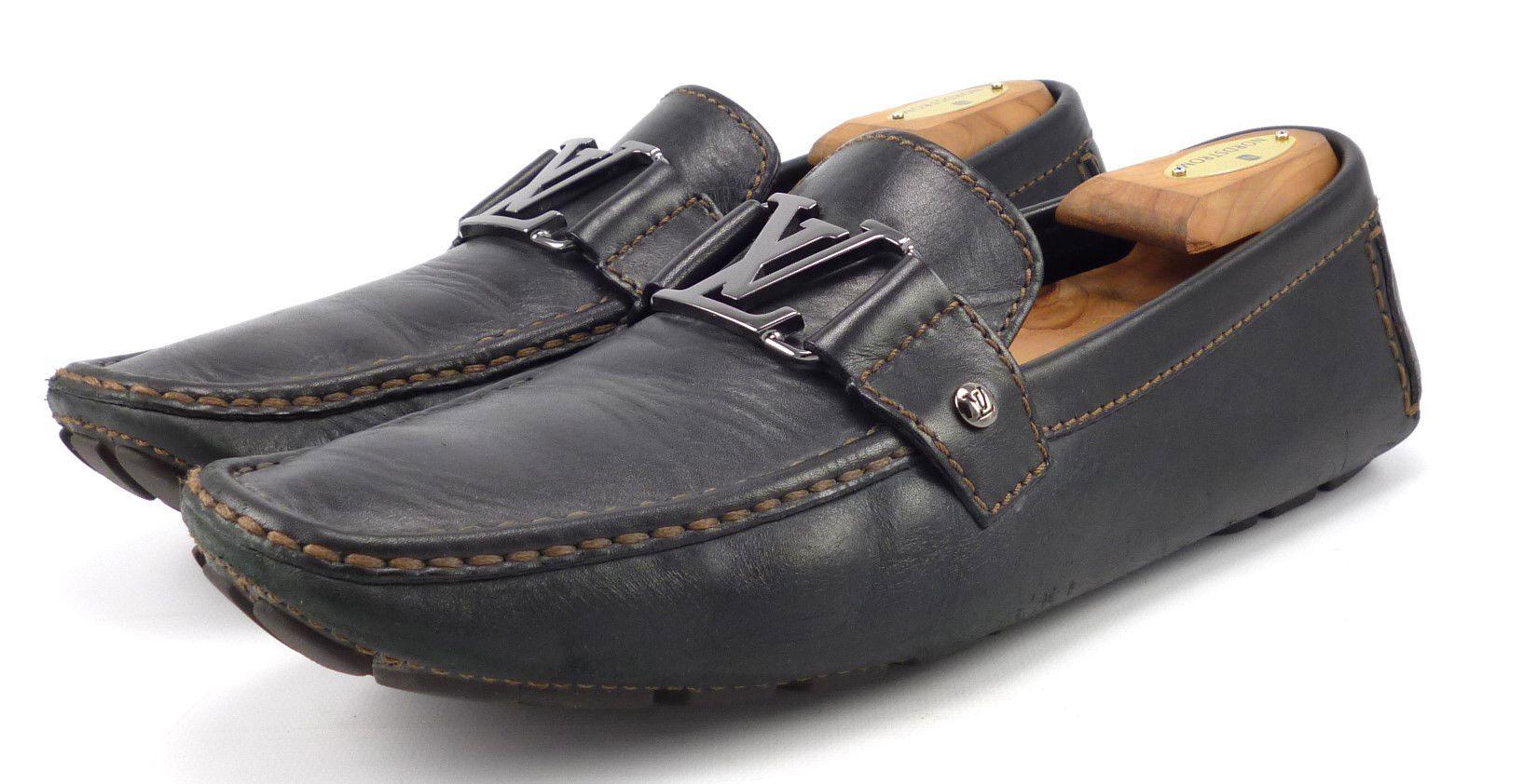 Louis Vuittons Mens Shoes 9, US 10 Monte Carlo Drivers FA0027 Black