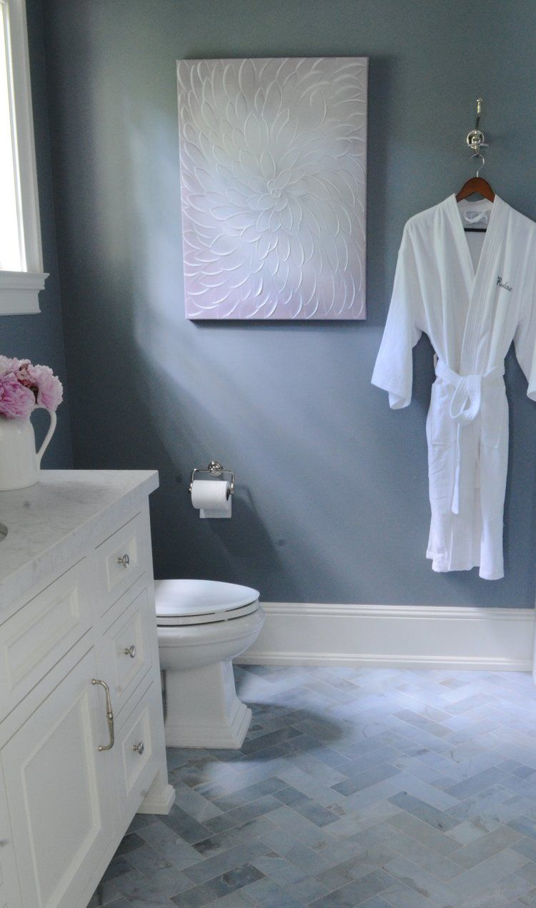 Benjamin Moore French Toile In The Guest Bath