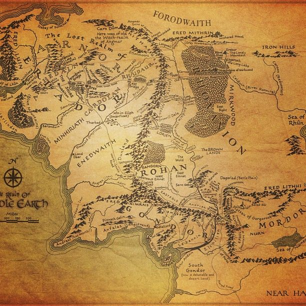 Map of middle earth #map #middleearth #gondor #shire #mordor
