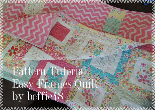 Easy Frames Quilt Tutorial, pdf. Easy,Use Charm Pks, Jelly Rolls ...
