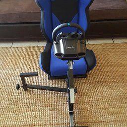 Openwheeler Racing Wheel Stand Cockpit Blue On Black For Logitech