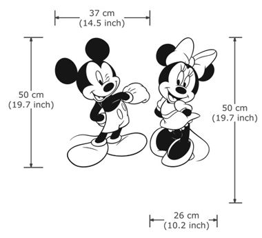 disney character micky minni maus vinyl wandtattoo wandaufkleber wd 0274 disney pinterest. Black Bedroom Furniture Sets. Home Design Ideas