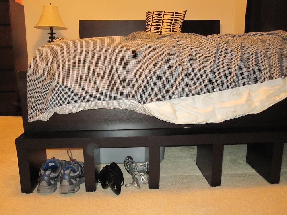 Elevated Malm With Images Ikea Malm Bed Malm Bed Malm Bed Frame